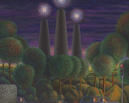 Magical realism painting by Wendy Widell Wolff - Red Light